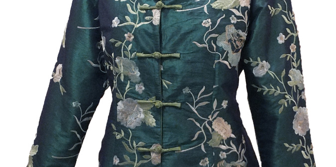 Three Tone Floral Embroidered Jacket