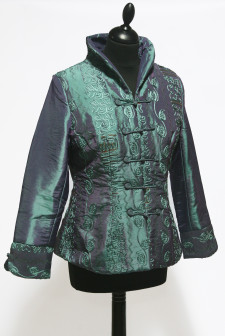 Teal Short Heavy Embroidered Jacket