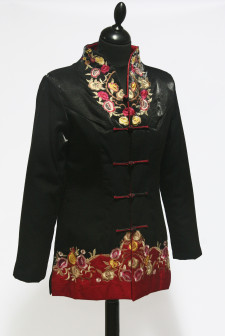Black and Red Embroidered Jacket