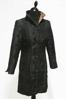 Black Long Heavy Embroidered Jacket
