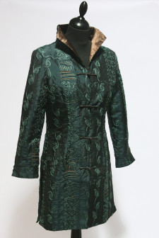 Green Long Heavy Embroidered Jacket