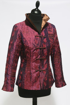 Pink Short Heavy Embroidered Jacket