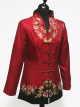 Red and Black Embroidered Jacket