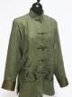 Green Faux Nubuck Suede Jacket