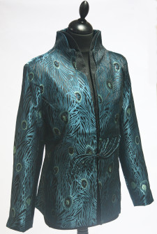 Blue and Green Peacock Jacket