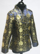 Blue Jacket with Ornate Gold Pattern