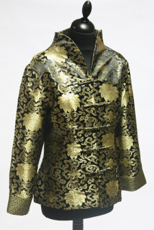 Black Jacket with Ornate Gold Pattern