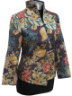 Pink Floral Asymmetric Front Jacket