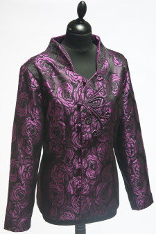 Purple Rose Patterned Jacket