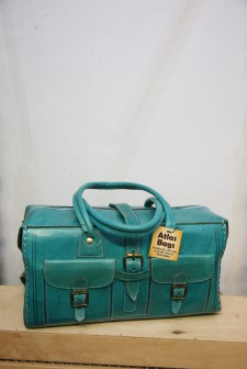 Large Leather Handbag by Atlas Bags – Turquoise