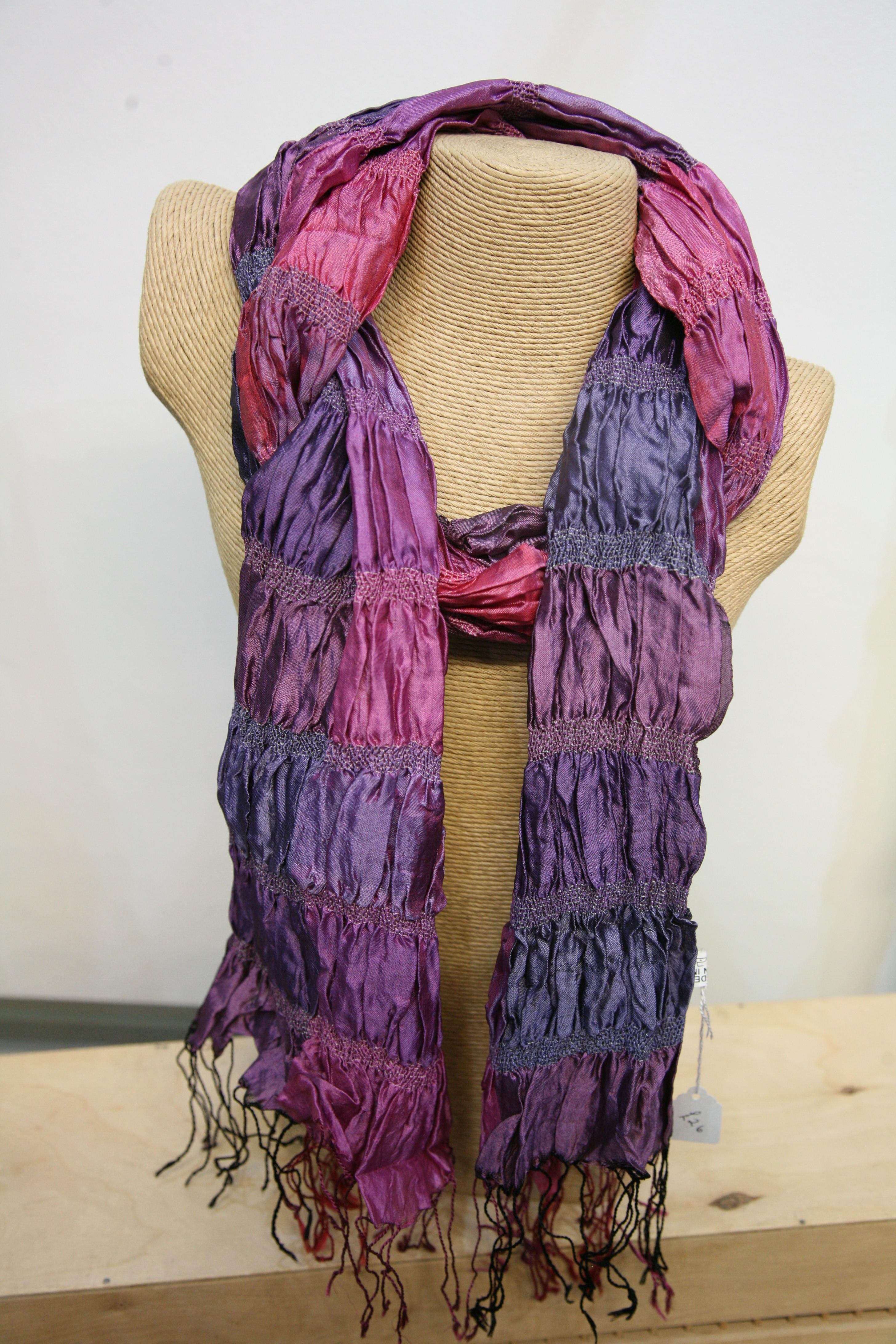 Silkthreads Elastic Scarf – Pink