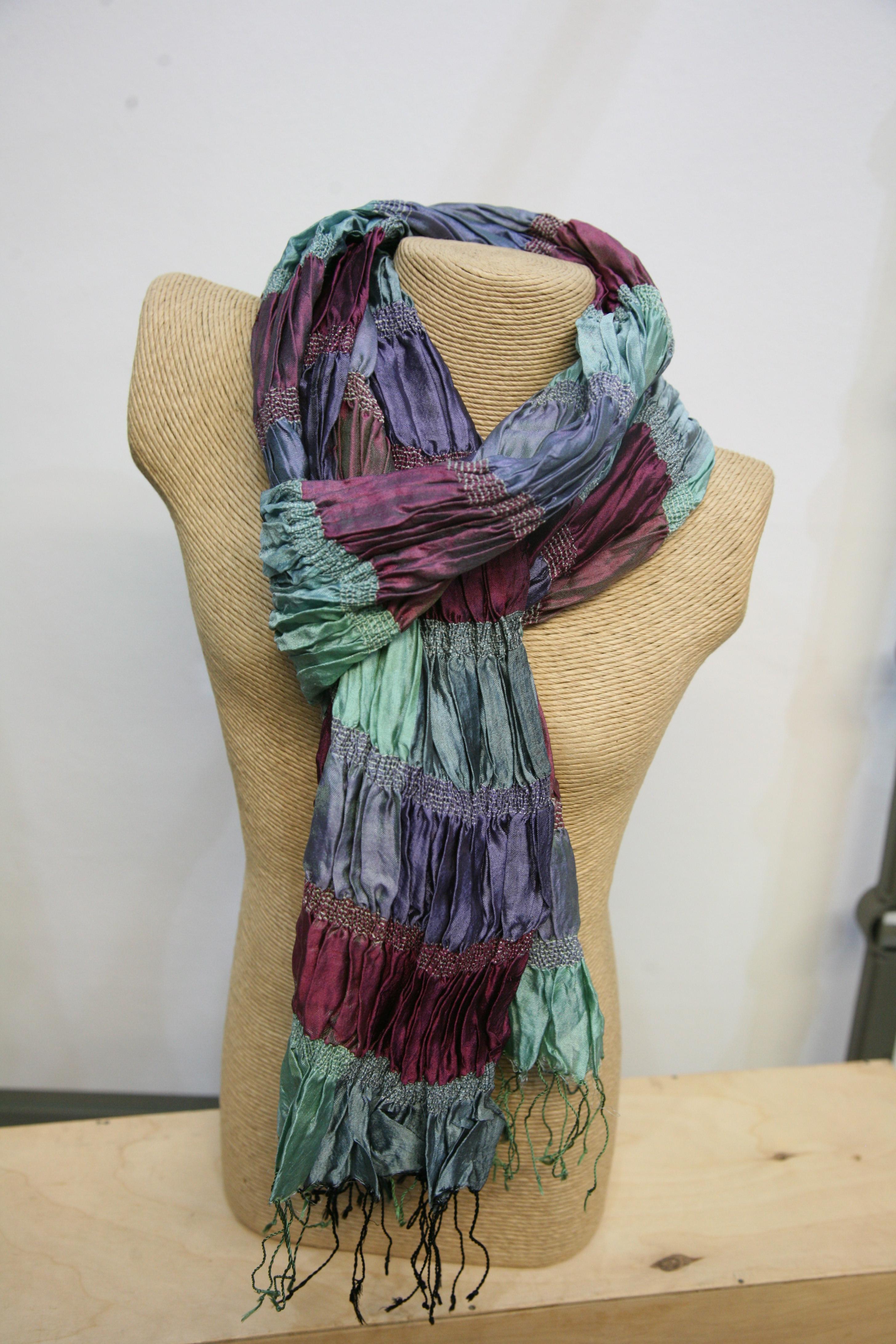 Silkthreads Elastic Scarf – Teal
