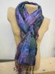 Silkthreads Elastic Scarf – Mid Blue