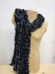Silkthreads Ruffle Scarf – Purple and Blue