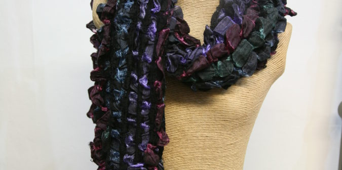 Teal, Pink and Purple Scarf