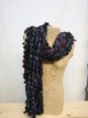 Silkthreads Ruffle Scarf – Teal, Pink and Purple