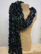Silkthreads Ruffle Scarf – Blue and Green