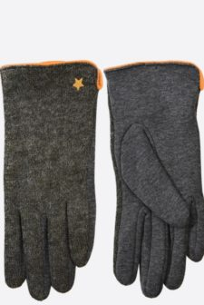 Faux Suede Gloves with star detail