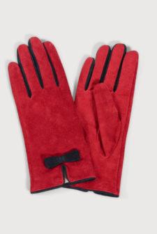 Red Suede Gloves