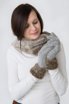 Mink Coloured Two Tone Snood