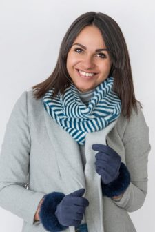 Zebra Print Navy Snood