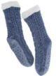 Chenille Blue Slipper Socks