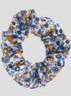 Navy Floral Hair Scrunchie
