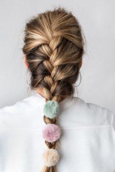 Lilac Fluffy Bobble Hair Band