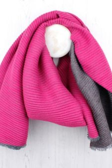 Reversible Pleated Scarf