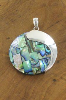 Silver Paua Necklace