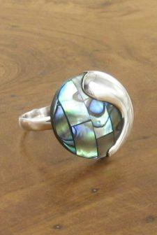 Silver Paua Ring